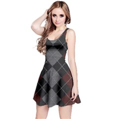 Wool Texture With Great Pattern Reversible Sleeveless Dress