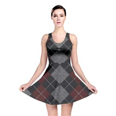 Wool Texture With Great Pattern Reversible Skater Dress