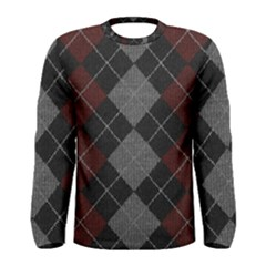 Wool Texture With Great Pattern Men s Long Sleeve Tee