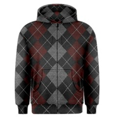 Wool Texture With Great Pattern Men s Zipper Hoodie