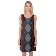 Wool Texture With Great Pattern Sleeveless Satin Nightdress