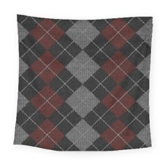 Wool Texture With Great Pattern Square Tapestry (large)
