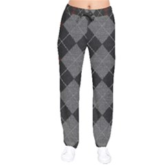 Wool Texture With Great Pattern Drawstring Pants