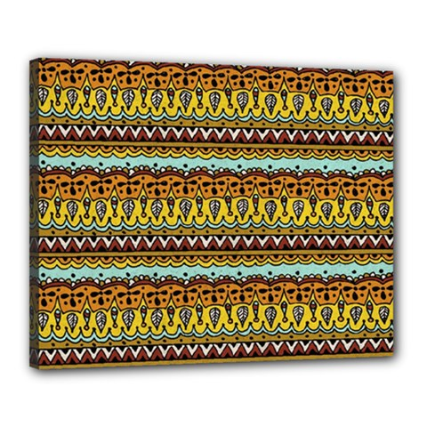 Bohemian Fabric Pattern Canvas 20  x 16