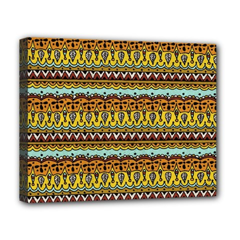 Bohemian Fabric Pattern Deluxe Canvas 20  x 16
