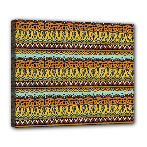 Bohemian Fabric Pattern Deluxe Canvas 24  X 20