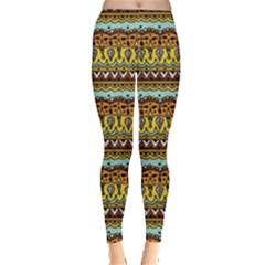 Bohemian Fabric Pattern Leggings