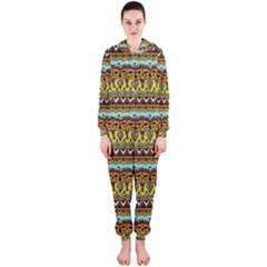 Bohemian Fabric Pattern Hooded Jumpsuit (Ladies)