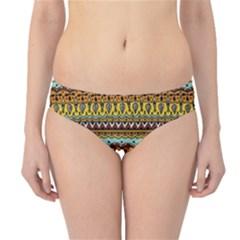 Bohemian Fabric Pattern Hipster Bikini Bottoms