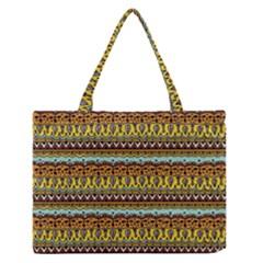 Bohemian Fabric Pattern Medium Zipper Tote Bag