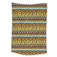 Bohemian Fabric Pattern Large Tapestry