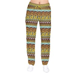 Bohemian Fabric Pattern Drawstring Pants