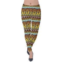 Bohemian Fabric Pattern Velvet Leggings