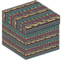 Aztec Pattern Cool Colors Storage Stool 12