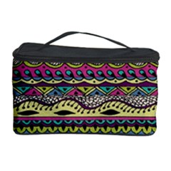 Aztec Pattern Cool Colors Cosmetic Storage Case