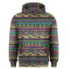 Aztec Pattern Cool Colors Men s Pullover Hoodie