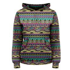 Aztec Pattern Cool Colors Women s Pullover Hoodie