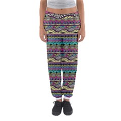 Aztec Pattern Cool Colors Women s Jogger Sweatpants