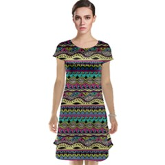 Aztec Pattern Cool Colors Cap Sleeve Nightdress