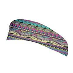 Aztec Pattern Cool Colors Stretchable Headband
