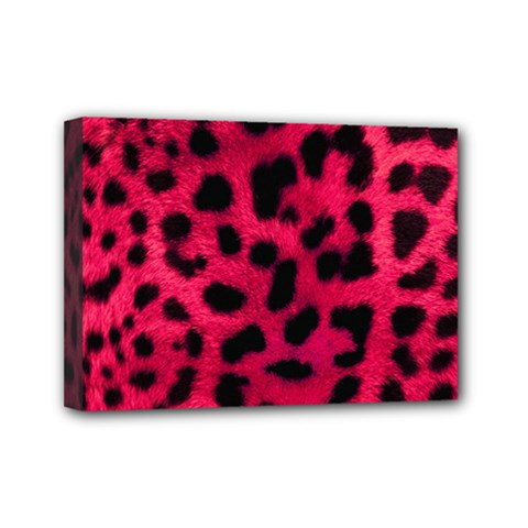 Leopard Skin Mini Canvas 7  x 5