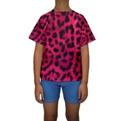 Leopard Skin Kids  Short Sleeve Swimwear