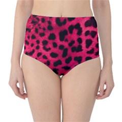 Leopard Skin High-Waist Bikini Bottoms