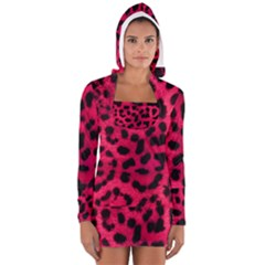 Leopard Skin Women s Long Sleeve Hooded T Shirt