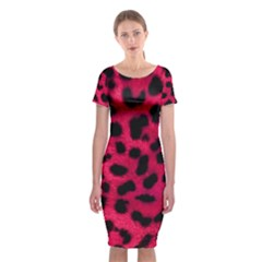 Leopard Skin Classic Short Sleeve Midi Dress