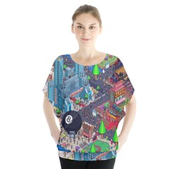 Pixel Art City Blouse