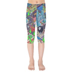 Pixel Art City Kids  Capri Leggings