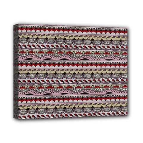 Aztec Pattern Patterns Canvas 10  x 8