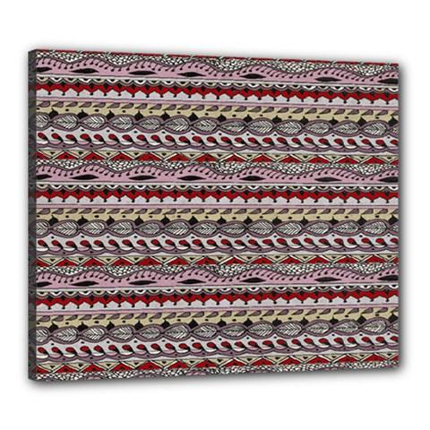 Aztec Pattern Patterns Canvas 24  x 20