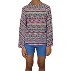 Aztec Pattern Patterns Kids  Long Sleeve Swimwear