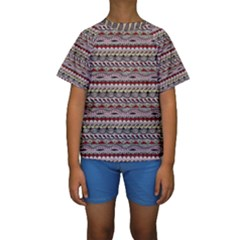 Aztec Pattern Patterns Kids  Short Sleeve Swimwear
