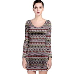 Aztec Pattern Patterns Long Sleeve Bodycon Dress
