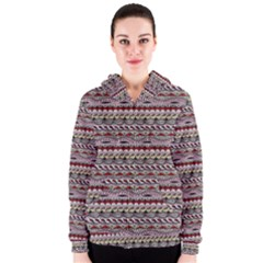 Aztec Pattern Patterns Women s Zipper Hoodie