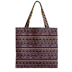 Aztec Pattern Patterns Zipper Grocery Tote Bag