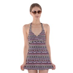 Aztec Pattern Patterns Halter Swimsuit Dress