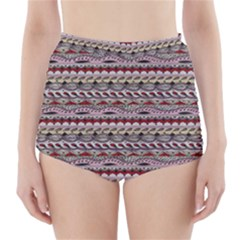 Aztec Pattern Patterns High-Waisted Bikini Bottoms