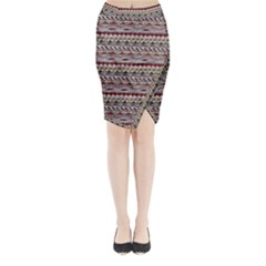 Aztec Pattern Patterns Midi Wrap Pencil Skirt