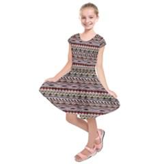 Aztec Pattern Patterns Kids  Short Sleeve Dress