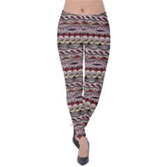 Aztec Pattern Patterns Velvet Leggings