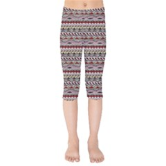 Aztec Pattern Patterns Kids  Capri Leggings