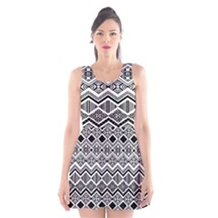 Aztec Design  Pattern Scoop Neck Skater Dress