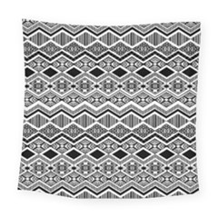 Aztec Design  Pattern Square Tapestry (large)