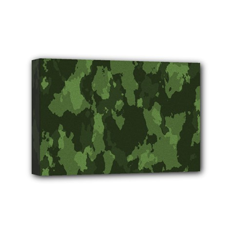Camouflage Green Army Texture Mini Canvas 6  x 4