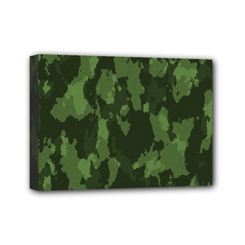 Camouflage Green Army Texture Mini Canvas 7  x 5