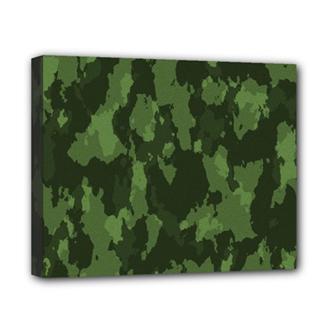 Camouflage Green Army Texture Canvas 10  X 8