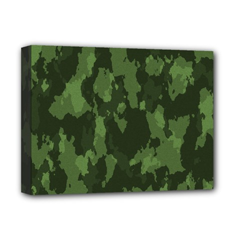 Camouflage Green Army Texture Deluxe Canvas 16  x 12